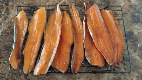 smoked trout fillets